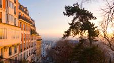 Sunrise in the city, Paris