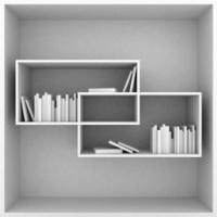bookshelves on a white background