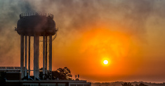 Sunrise at the water tower