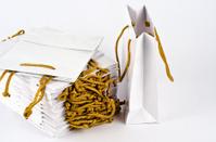 White paper bag.