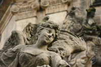 Detailed view of the original Baroque sculpture