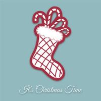 Retro Christmas Ornament - Stocking