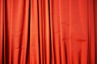 Red curtain. Color Image