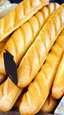 stack of fresh French bread sticks