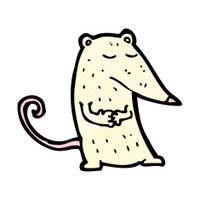 cartoon white lab rat