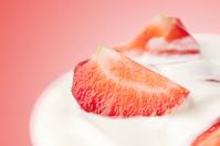 fresh strawberry with yogurt