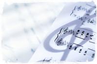 Music sheet with grunge frame