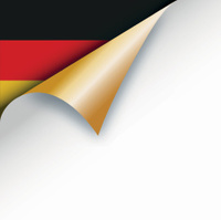 Page curl revealing German flag