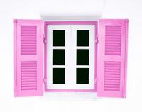 pink Greek Style windows