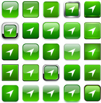 3D Button Icon Set