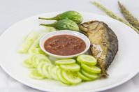 Fried Mackerel fish in Thai food