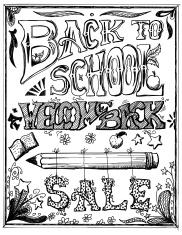 Back To School Ink Doodles On Paper