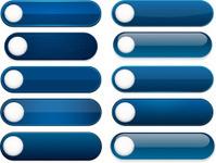 Blank button icon set