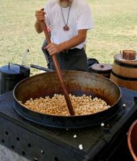 Stirring the Kettlecorn