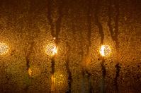 drops on window - night
