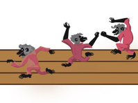 amusing dancing monkeys