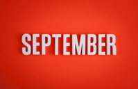 September sign lettering