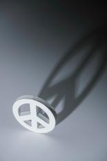 White symbol of peace