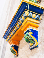 painted portico