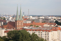 Cityscape of Berlin with Nokolakirche Church