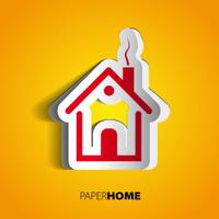 Paper home design concept