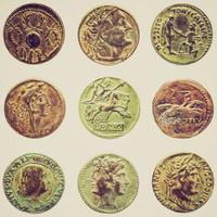 Retro look Roman coin