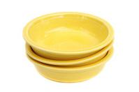 Stack of three ceramic bowls