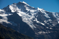 The top of Jungfrau mountain (Switzerland)