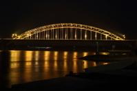 Nijmegen road bridge by night