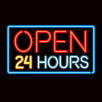 Neon Sign Open Late Icon
