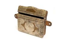 antique brass Koran container