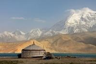 Yurt and Mushtaq Ata peak Karakorum