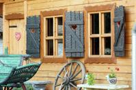 vintage old house in Serbia detail