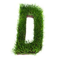 Grass letter D