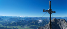 Mountain summit in the Alps