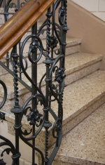 ironwork of the staircase