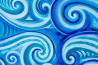 Blue Curl Waves