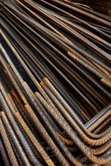 Rusty construction steel