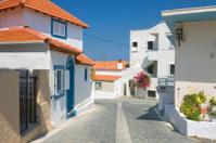 Color greek street, Rhodes, Greece