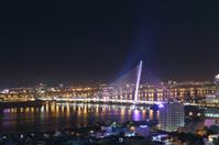 Danang, Vietnam in the night, Bridge on Han River