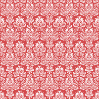seamless classic damask pattern on red background