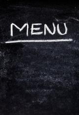 menu on the board