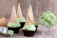 mint icecream style cupcakes