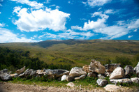 wonderful panoramic view of the Caucasian mountains