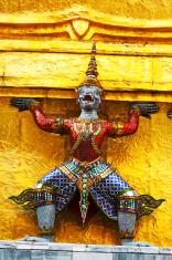 Golden pagoda and ape warrior