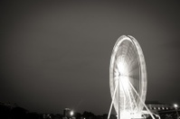 Fairy wheel in an amusement park during night time