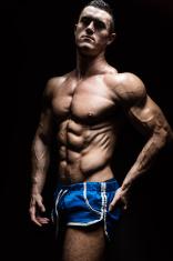 Very muscular man