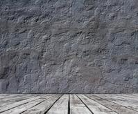 floor and stucco wall
