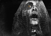 Creepy Halloween Creature Covered In Mesh
