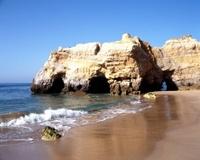 Quiet beach, Praia da Rocha, Portugal.